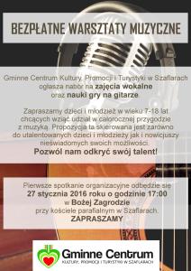 plakat warsztaty muzyczne