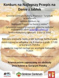 Plakat - konkurs jabłka