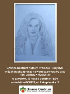 Plakat wystawa Jolanty Krzystyniak